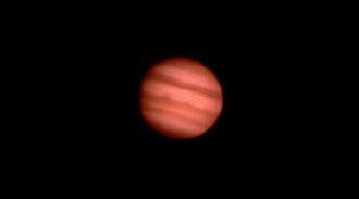 Jupiter: Aufgenommen mit einer Webcam