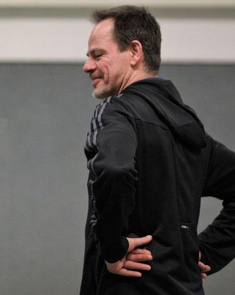 ...und der Ex-Hülser André Nieblich, inzwischen Kapitän des VfB Kirchhellen III.