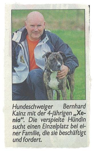 Bernhard Kainz mit Xenia