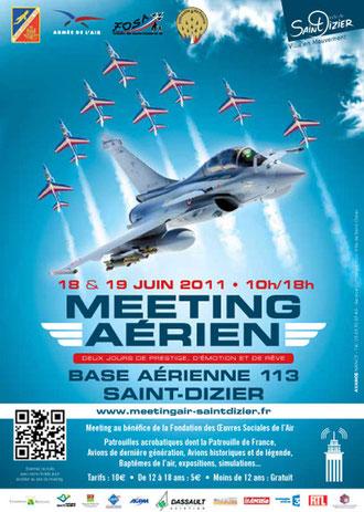 Meeting Aerien BA-113 Saint-Dizier rafale 2011 Antoine de Saint-Exupéry le petit prince MNA spotter french airshows tv st dizier  www.meetingair-saintdizier.fr