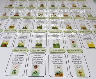 A1 Häusertafel - Schablone   8x4    Mlle Lenormand Kartenlegen lernen