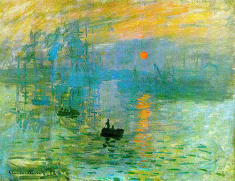 bức tranh nổi tiếng của Claude Monet: Impression, soleil levant (Ấn tượng mặt trời mọc).