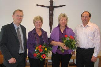 Pfr. Bernd Hensinger, Erika Göth, Martha Bauer, Alwin Grandy
