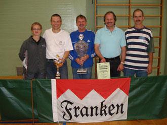 Am Erfolg beteiligt waren von links: Ramona Meier, Peter Herbst, Paul Fechner, Rainer Fegelein und Ludwig Weigand