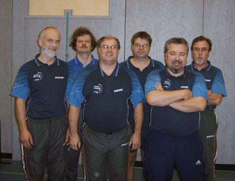 von links: Konrad Weigand, Erik Geuder, Dieter Klühspies, Roland Krischke, Thorsten Reibold und Raimund Schimanski