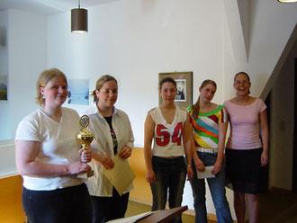 von links: Cornelia Schäfer, Tanja Rehberg,Theresa Weigand, Verena Schäfer und Elena Meding