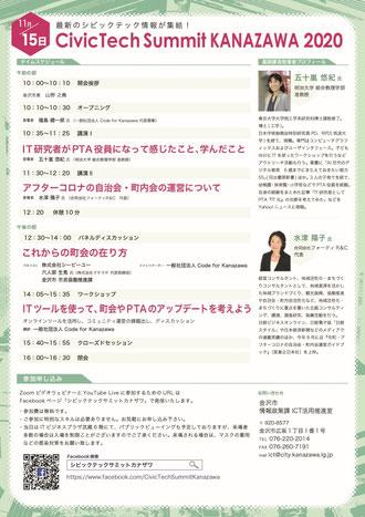 CIVICTECH SUMMIT KANAZAWA2020