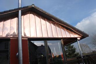 Fassadenverkleidung mit Kupferblech