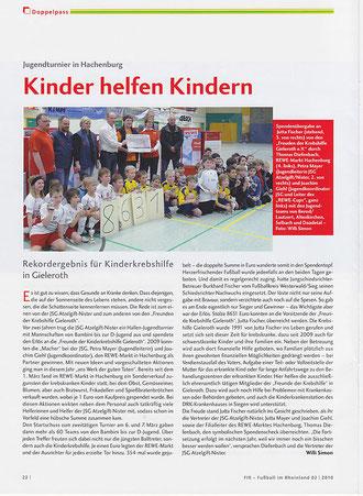 Fussball im Rheinland, Ausgabe 2/2010 (Klicken zum Vergrößern)