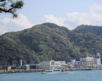対岸の後瀬山とホテル街