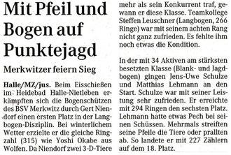Artikel - Eisschiessen 2006 - BSV Merkwitz
