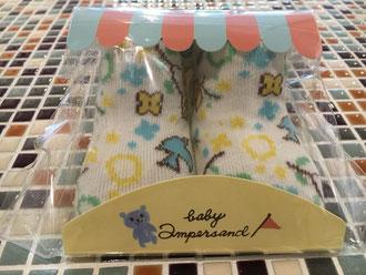 baby ampersand              girl'sうさぎと花柄ソックス(H154046)     (size 10〜12㎝)               ¥350+税