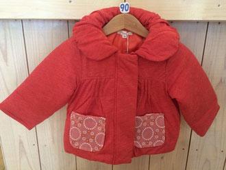 セラフ                    リース刺繍中綿ジャケット(S401015)      (size 100㎝)              ¥3.900+税