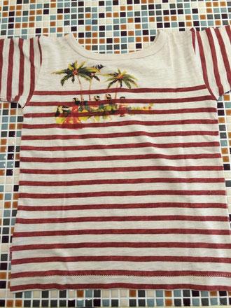 F.O.KIDS                 Hawaiiボーダー半袖Tシャツ(裏)        (size 110・120㎝)            ¥1.900+税