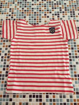 セラフ                    ボーダーTシャツ(S207045)          (size 100・110・120・140㎝)         ¥1.700+税