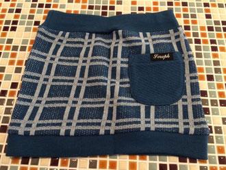 セラフ                    チェック柄ジャガードタイトスカート(裏)    (size 90・110㎝)            ¥1.900+税
