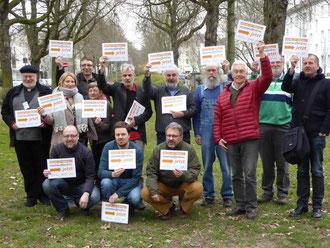Rückblick: Letztes Treffen vor dem Start der Kampagne: 19.03.2016 Frankfurt