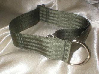 Zugstopp, Halsband, 4cm, Gurtband olivgrün