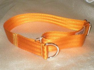 Zugstopp, Halsband, 2,5cm, Gurtband goldorange