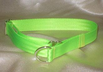 Zugstopp, Halsband, 2,5cm, Gurtband neongrün