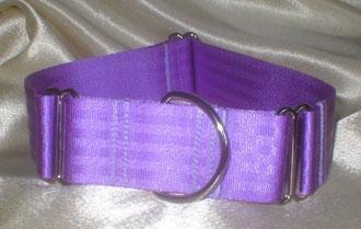 Martingale, Halsband, 4cm, Gurtband fliederfarben