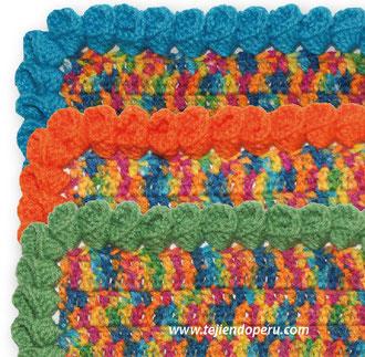 Borde o puntilla con flores de campanilla tejido a crochet