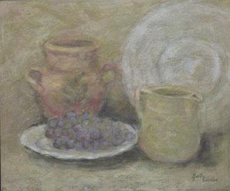 Bodegón con uvas