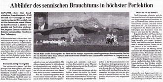 """Volksfreund, 1997, """"Abbilder des sennischen Brauchtums in höchster Perfektion"""""""