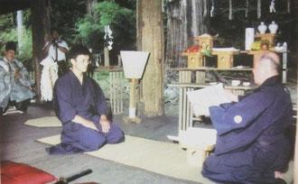 無外流居合兵道第十六代伝授式 喜多方市熊野神社にて
