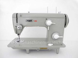 Pfaff 260, Flachbettnähmaschine, Hersteller: G. M. Pfaff AG, Kaiserslautern (Bilder: Nähmaschinenverzeichnis)
