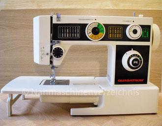 Quasatron, 9 Programme, Freiarm-Koffer-Nähmaschine mit Einbaumotor oder CS-Electronics, Super-Nutzstich-Freiarm-Nähmaschine, Vertrieb: Intercombina GmbH (Bilder: I. Naumann)