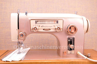Gritzner GU L, Zauber-Automatic, mit Radio-Skala, Flachbett, Unterbaumotor, Hersteller: Gritzner-Kayser AG, (Bilder: Nähmaschinenverzeichnis)