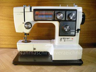 Gritzner 79, electronic, Typ 619, Freiarm mit Einbaumotor Hersteller: Dorina Nähmaschinen GmbH, Karlsruhe-Durlach (Bilder: I. Naumann)
