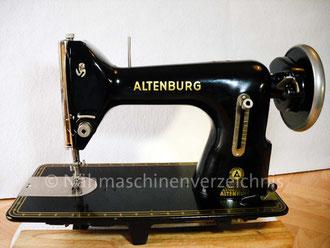 Altenburg Geradestich, Hersteller: VEB Nähmaschinenwerke Altenburg (Bilder: I. Naumann)