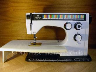 Husqvarna 2000 SL, System Colormatic, Modell 6460, Freiarm mit Einbaumotor, Hersteller: Husqvarna Viking, Schweden (Bilder: I. Naumann)