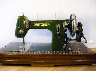 Gritzner R, Flachbett mit Handkurbel, Hersteller: Gritzner-Kayser AG Nähmaschinen - Mopeds - Fahrräder Karlsruhe-Durlach (Bilder: I. Naumann)