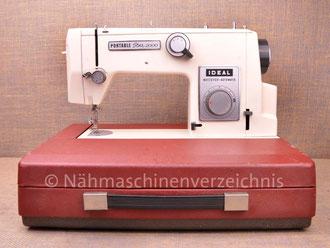 Ideal Portable Star 2000, Koffernähmaschine, Zickzack, Hersteller: Rast & Gasser, Wien, Österreich (Bilder: Nähmaschinenverzeichnis)