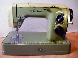 Anker Automatic RZ Flachbett mit Schablonen, Hersteller: Anker-Werke Bielefeld (Bilder: I. Naumann, R. Heuts)