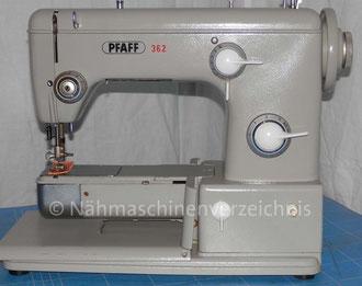 Pfaff 362, Freiarmnähmaschine, Hersteller: G. M. Pfaff AG, Kaiserslautern (Bilder: M. Maag)