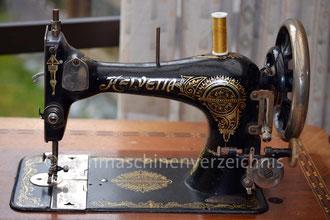 Helvetia 17 G Schwingschiff-Tischnähmaschine, Hersteller Schweizerische Nähmaschinenfabrik Luzern (BIlder: B. Mangold)