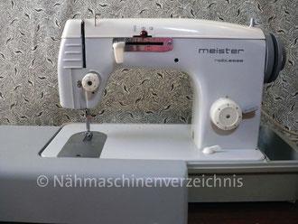 Meister noblesse Zickzack 140 Flachbett, Hersteller: Meister-Werke GmbH Schweinfurt (Bilder: I. Naumann u. M. Schmidt)
