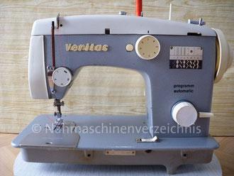 Veritas 8014/38-2, programm-automatic (16 Programme) Haushalts-Nähmaschine, Flachbett mit Anbaumotor oder Fußantrieb, Hersteller: VEB Nähmaschinenwerke (Bilder: