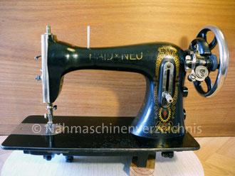 Haid & Neu, Geradstich, Flachbett, Fußantrieb, Motoranbau möglich, Hersteller: Haid & Neu AG, Karlsruhe (Bilder: I. Naumann)