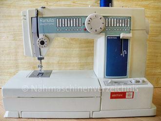 Famula electronic  4890, (16 Programme), Veritas, Freiarm-Nähmaschine mit Klapptisch und Einbaumotor, Hersteller: Textima VEB Nähmaschinenwerk Wittenberge (Bilder: I. Naumann)