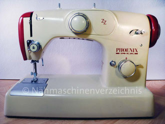 Phoenix Gloria Zickzack Flachbett,  Hersteller: Anker-Phoenix Nähmaschinen AG, Bielefeld (Bilder: I. Naumann)