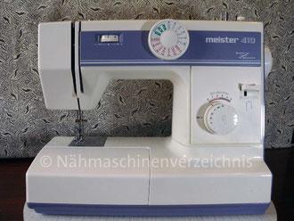 Meister 410 Freiarm, Hersteller: Meister-Werke GmbH Schweinfurt (Bilder: I. Naumann)