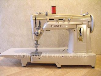 Singer Kl. 432 G, Zickzack + Kettenstich, Freiarm-Koffer-Nähmaschine, mit Einbaumotor Serien-Nr.: PB 614 421, Hersteller: Singer Nähmaschinen Aktiengesellschaft Deutschland (Bilder: I. Naumann)