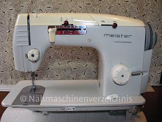 Meister noblesse automatic 141 Flachbett, Automatik mit Schablonen, Hersteller: Meister-Werke GmbH Schweinfurt (Bilder: I. Naumann)