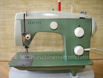 Veritas, 8018/2, Zickzack Haushaltsnähmaschine, Flachbett, mit Anbaumotor oder Fußantrieb, Hersteller: VEB Nähmaschinen Werk Wittenberge (Bilder: I. Naumann)