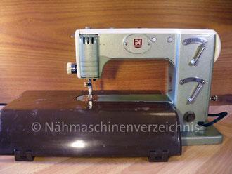 Gritzner FZ, Automatic mit Schablonen, Freiarm mit Einbaumotor, , Hersteller: Gritzner-Kayser AG, Karlsruhe-Durlach (Bilder: I. Naumann)